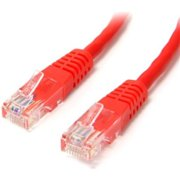 StarTech 15 ft Red Molded Cat5e UTP Patch Cable M45PATCH15RD
