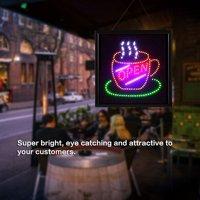 Yosoo LED Open Sign,EECOO Bright Flashing LED OPEN Sign Light Cafe Shop Bar Store Restaurant Display 48*48cm,LED Billboards