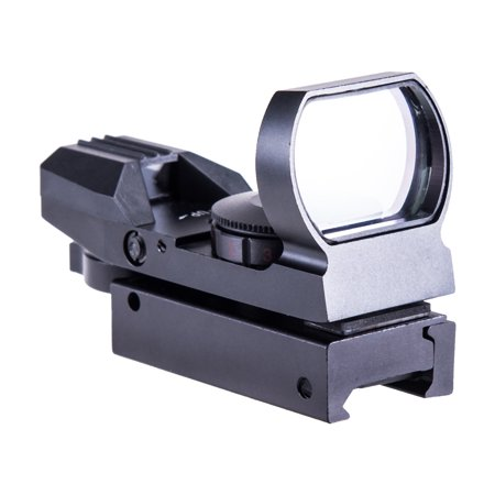 Tactical Forearm Rail - Pinty USA Tactical Holographic Reflex Red Green Dot Sight 4 Type Reticle with 20mm Rails