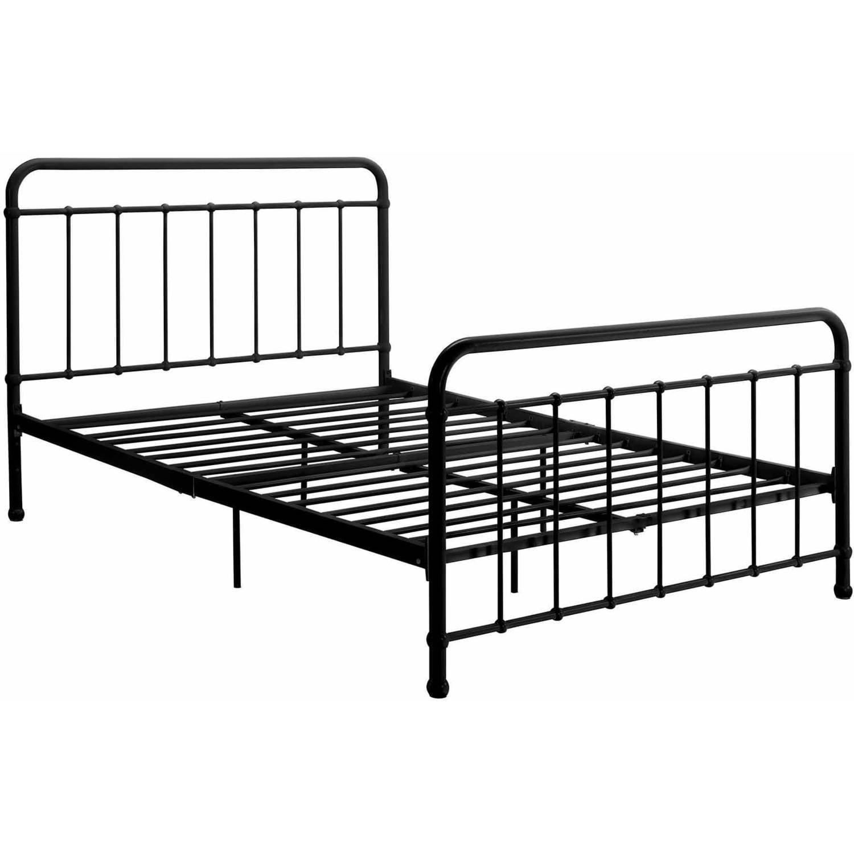 DHP Brooklyn Iron Bed Black Multiple Sizes Walmartcom
