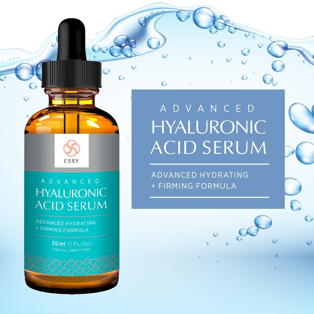 Essy Beauty Hyaluronic Acid Serum for Skin - Advanced Hydrating, Anti aging formula 1 fl. oz
