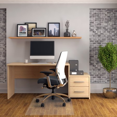 "Floortex | PVC Chair Mat for Hard Floor 36"" x 48"" | Rectangular with Lip"