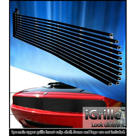Fits 2009-2014 Dodge Challenger Phantom Black Stainless Steel Billet Grille
