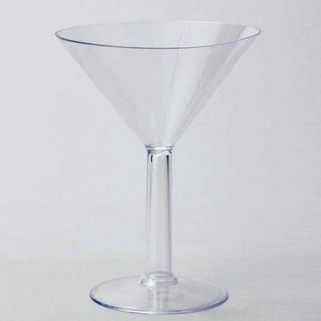 Plastic Large Martini Glass Disposable Cup, Clear, - Martini Plastic Glasses Bulk