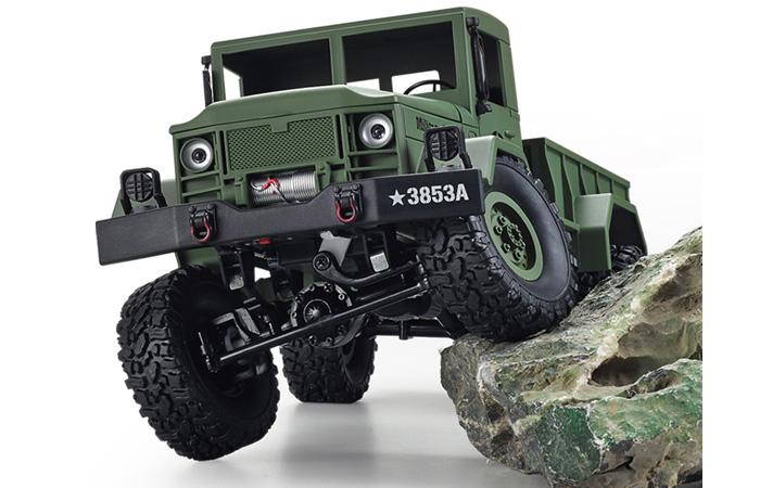 2.4Ghz Radio Control 1 16 4X4 R C High-Imitation U.S. Military Truck Off-Road Crawler... by