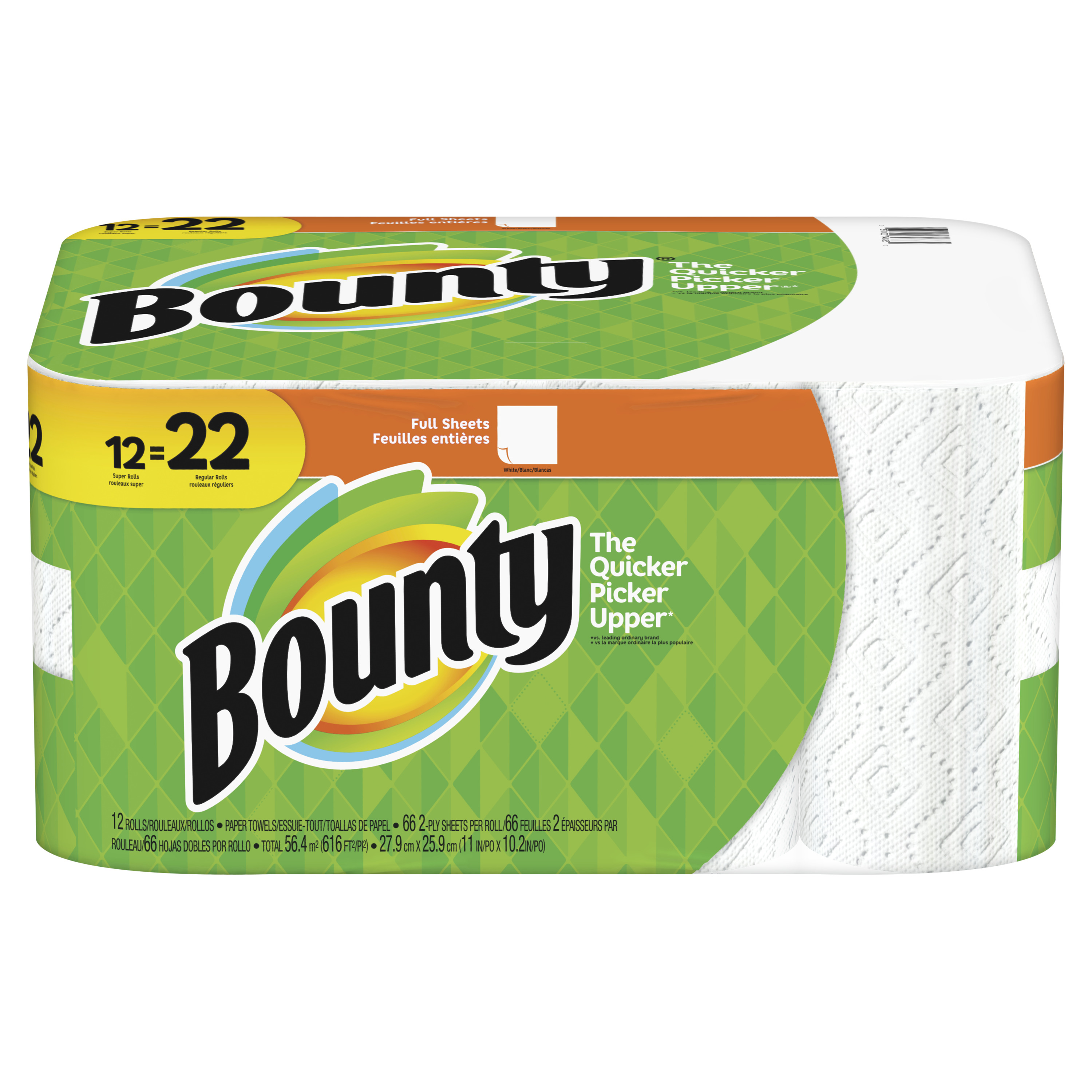 Bounty Paper Towels, Full Sheet, 12 Super Rolls