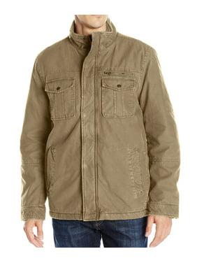 G.H. Bass & Co. Mens Zip And Snap Aviator Jacket
