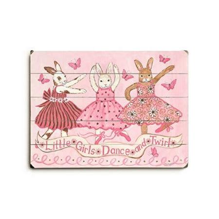 Little girls dance and twirl Wood Sign 14x20 (36cm x 51cm) - Twirly Girl