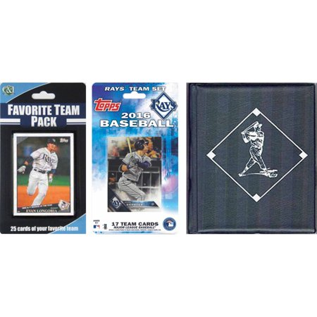 C&I Collectables MLB Tampa Bay Rays Licensed 2016 Topps Team Set and Favorite Player Trading Cards Plus Storage - Tampa Halloween Stores