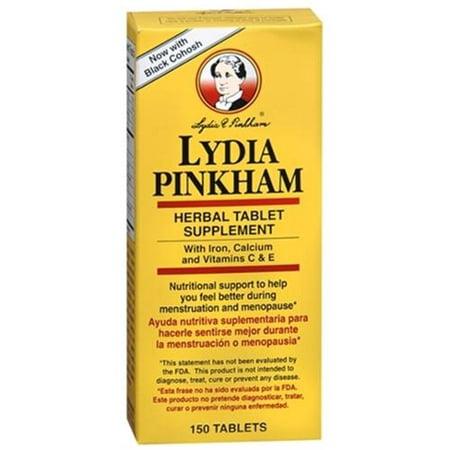 Lydia Pinkham supplément à base de plantes comprimé de 150 comprimés (paquet de 6)
