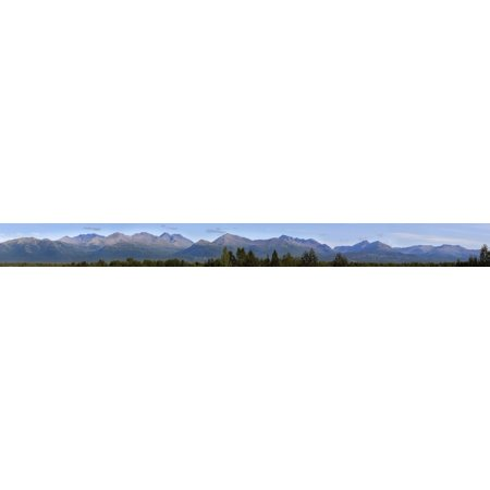 Panoramic Summer View Of The Chugach Range Above Anchorage In Southcentral Alaska Posterprint