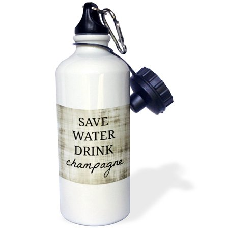 Save Water (3dRose Save water drink champagne, Sports Water Bottle,)