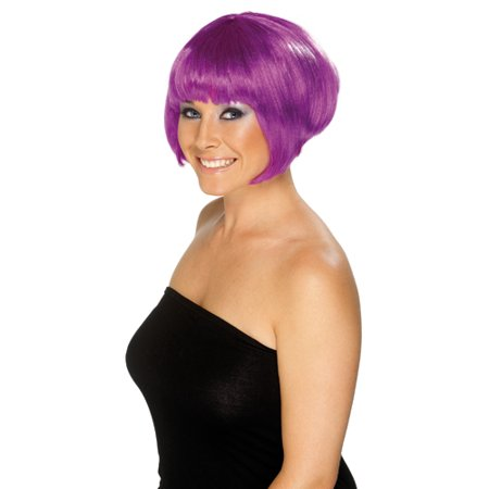 Womens Short Purple Babe Bob Wig](Purple Bob)