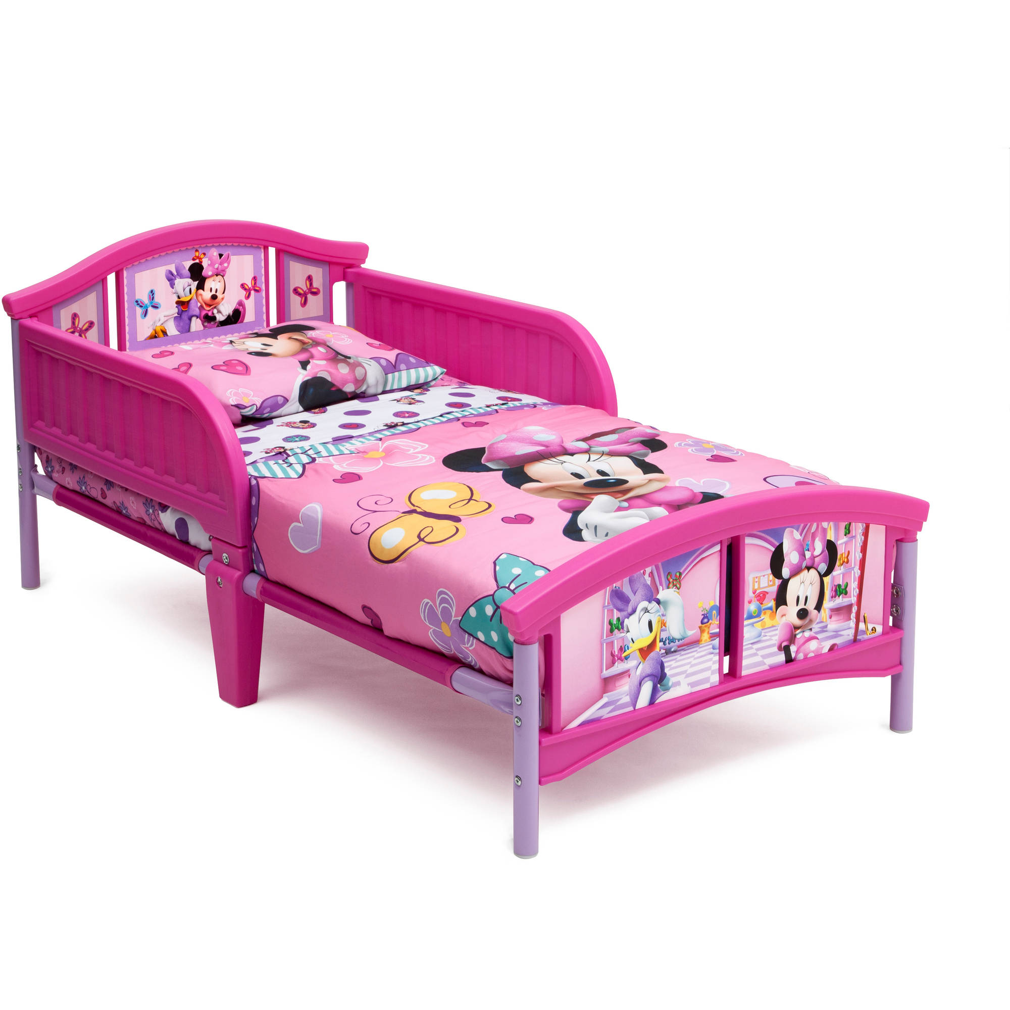 disney minnie mouse plastic toddler bed 691335322488 ebay. Black Bedroom Furniture Sets. Home Design Ideas