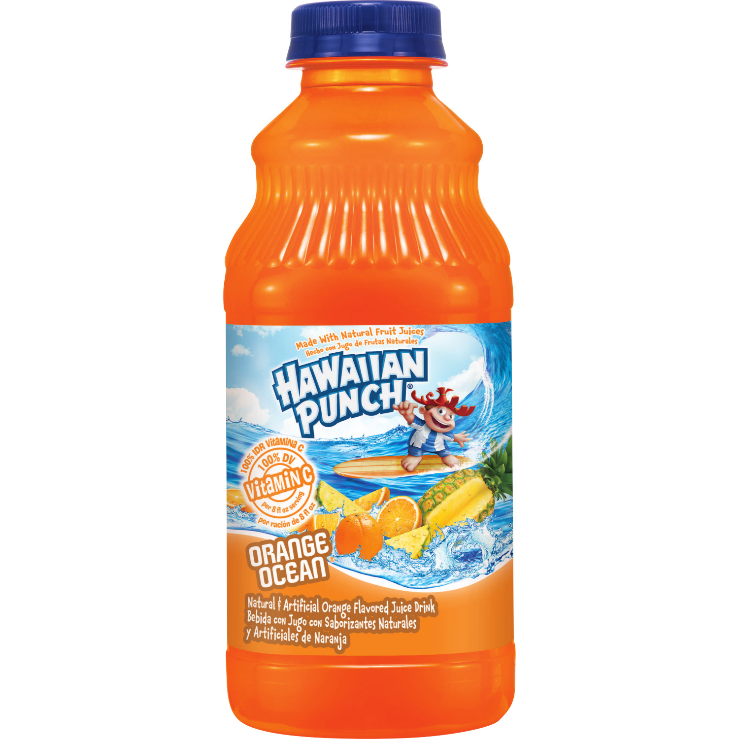 Hawaiian Punch Orange Ocean, 32 fl oz bottle,12 Count