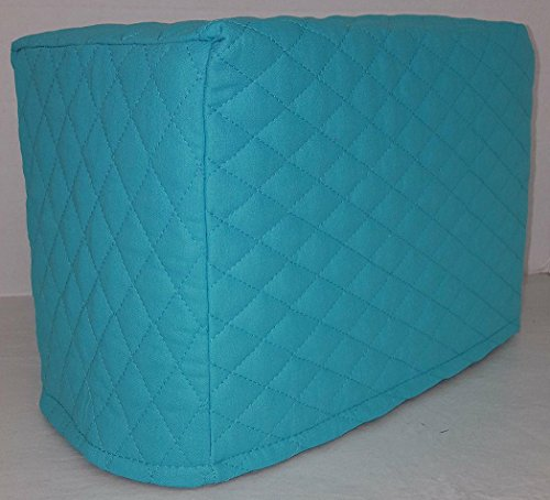 Quilted Toaster Cover (4 Slice, Aqua Blue)