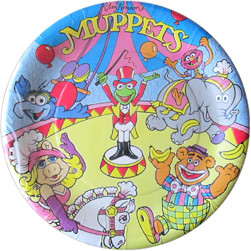 Muppets Vintage 'Circus' Small Paper Plates (8ct)