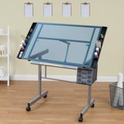 Studio Designs Vision Craft Station with Glass Top plus Rolling Wheels