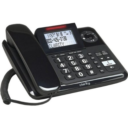 Clarity 53730 000 Amplified Corded Phone With Digital Answering System
