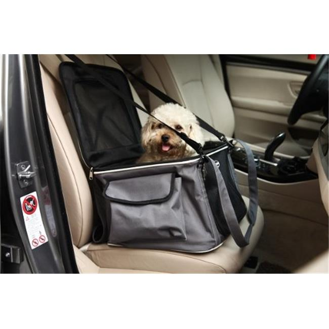 Pet Life LLC 3CSBK Lightweight Collapsible Safety Travel Wire Folding Car Seat Carrier