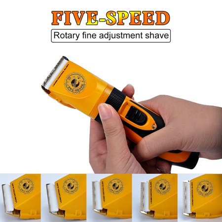 Professional Mute 35W Electric Dog Cat Hair Trimmer Clipper Shaver Pet Grooming Kit Five Fine-tuning Speed Haircut Set with with Durable Battery and Strong Motor - image 1 of 10