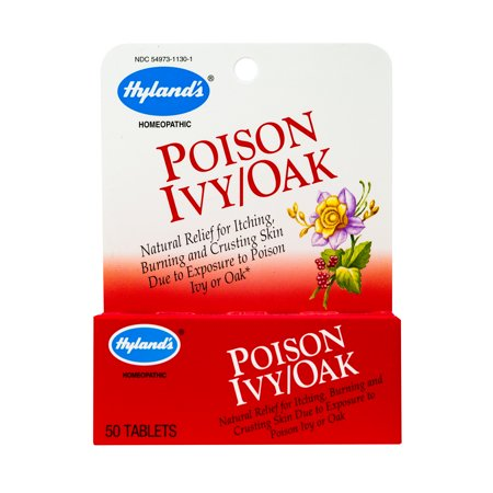 Hyland's Natural Poison Ivy & Poison Oak Relief Tablets, 50 Quick Dissolving Tablets