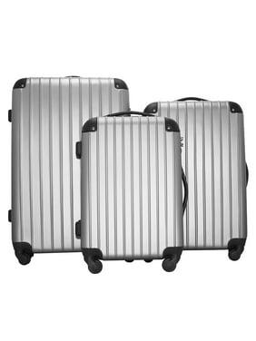 """3 Piece Luggage Sets Clearance, SEGMART Lightweight Hardshell Luggage with TSA Lock, Fashion Carry on Suitcase Set: 20""""/ 24''/ 28"""", Large Capacity Storage Suitcase for Traveling, Navy Blue, S123"""