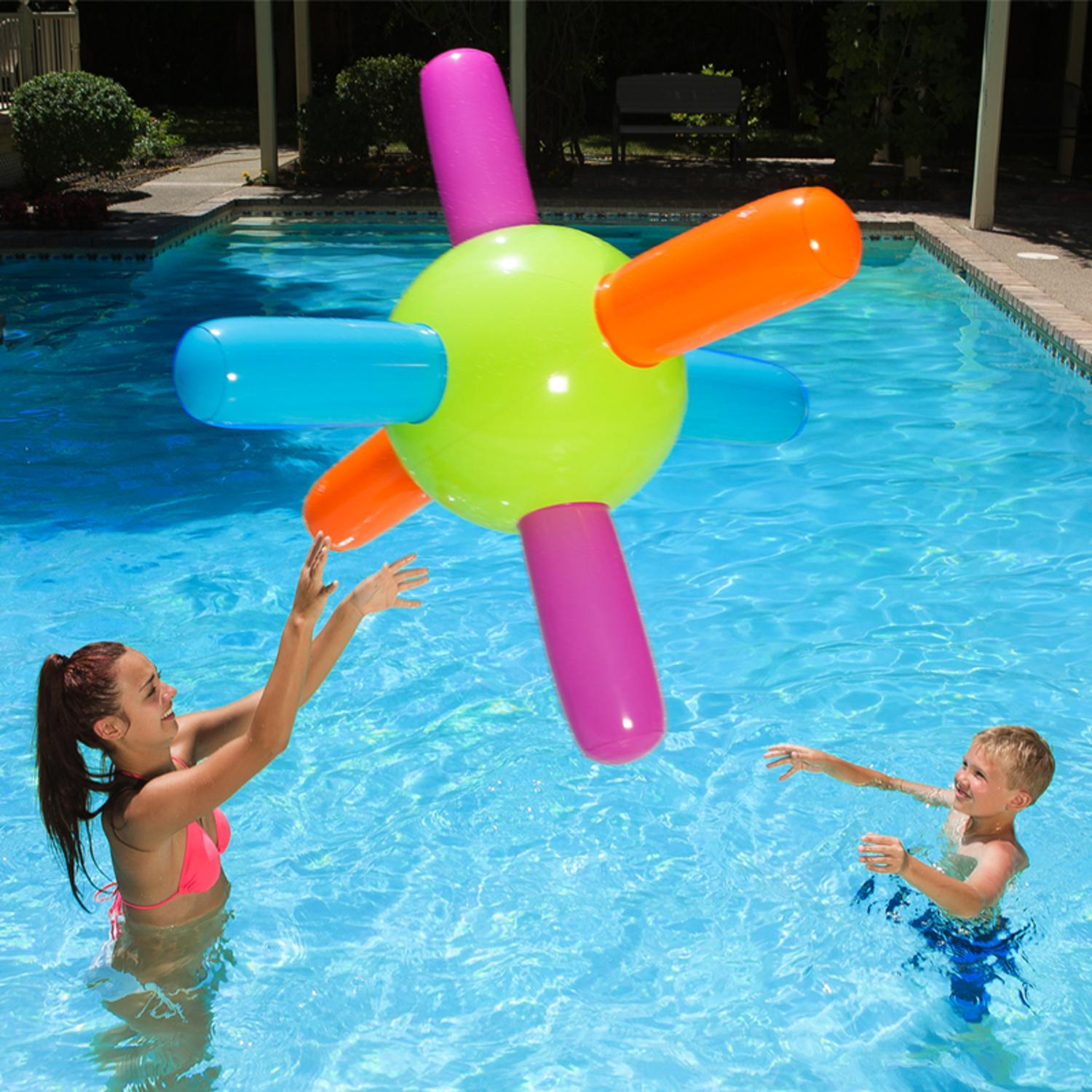 """Swim Central 58"""" Inflatable Aqua Atom Swimming Pool Toy Vibrantly Colored by Swim Central"""