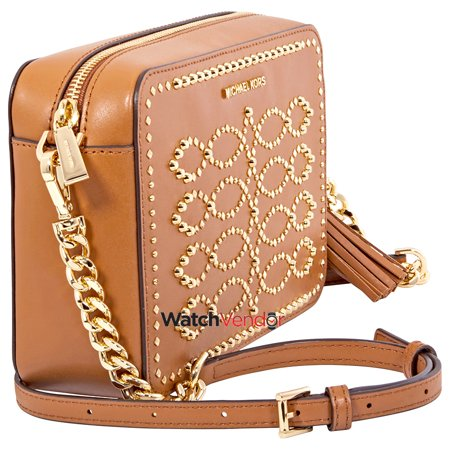 a328b23aa06d Michael Kors Ginny Medium Studded Leather Crossbody- Acorn - image 1 of 5  ...