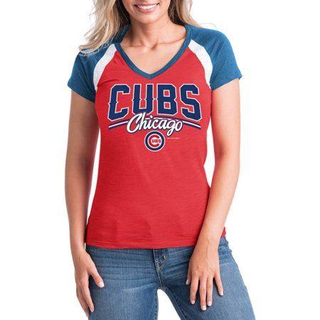 Mlb Chicago Cubs Womens Short Sleeve Team Color Graphic Tee