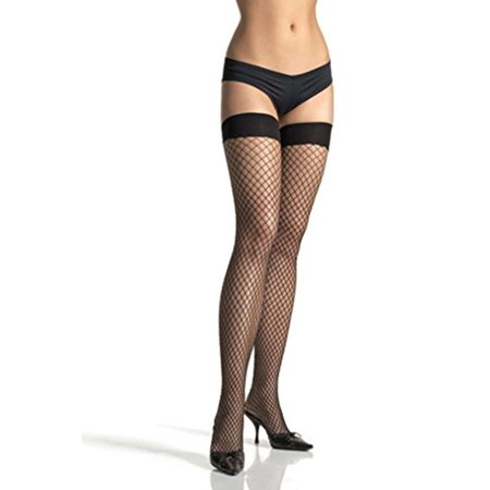 Lycra Fishnet Thigh High Adult Halloween Accessory](Red Wings Players Halloween)