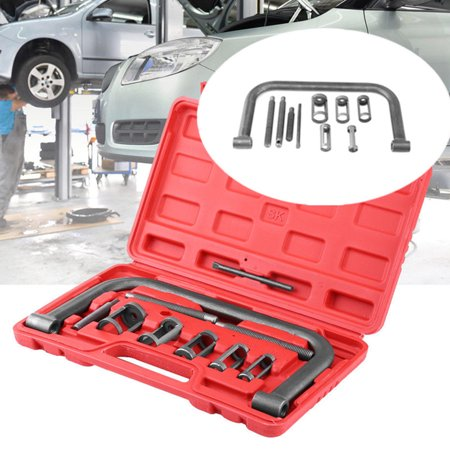 10 Pcs Valve Spring Compressor Kit Hilitand Remover Installer Tool For Car Van Motorcycle Engines with Box