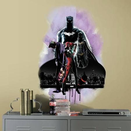 RoomMates Batman with Villians Peel and Stick Giant Wall Graphic - Batman Girl Villians