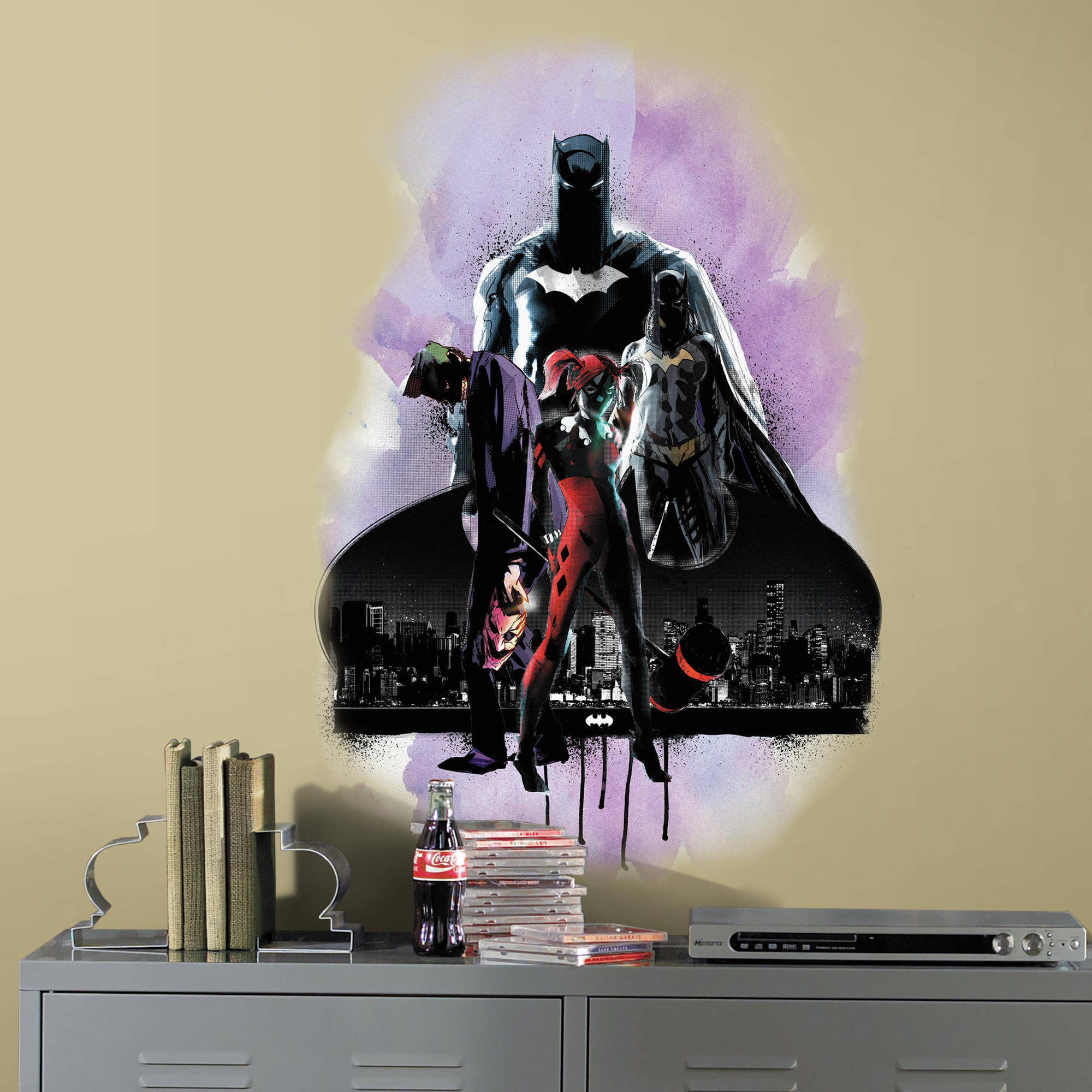 RoomMates Batman with Villians Peel and Stick Giant Wall Graphic