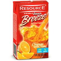Resource Breeze, Clear liquid nutrition beverage, Orange 27 X 8-Ounce