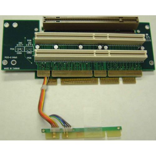 Generic 2U PCI/AGP Riser Card3 in 1 right angle riser card.