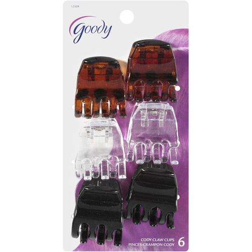 Goody Cody Claw Clips, 6 count