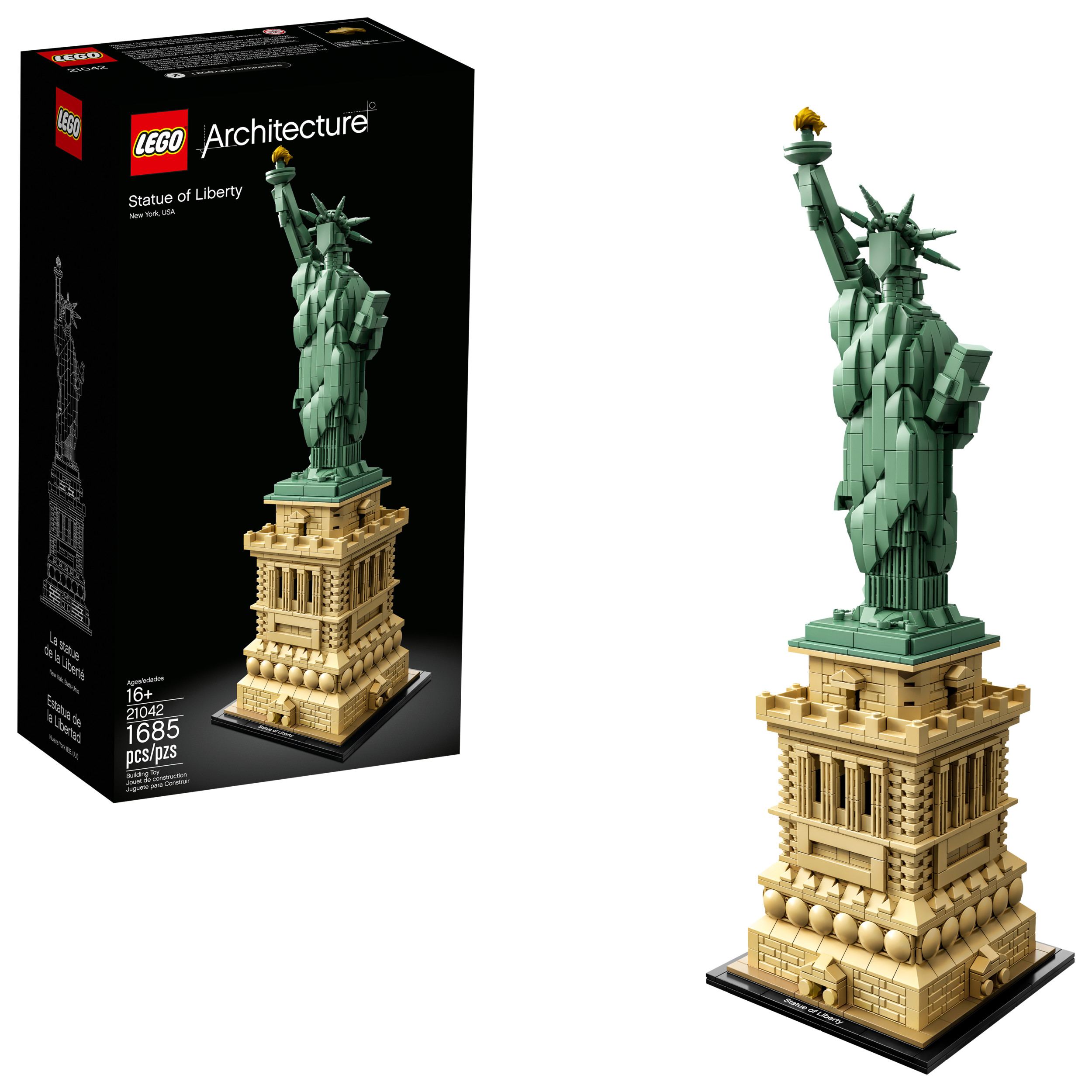 Lego New Statue of Liberty Sand Green Torch Flame Fire Minifigure Accessory