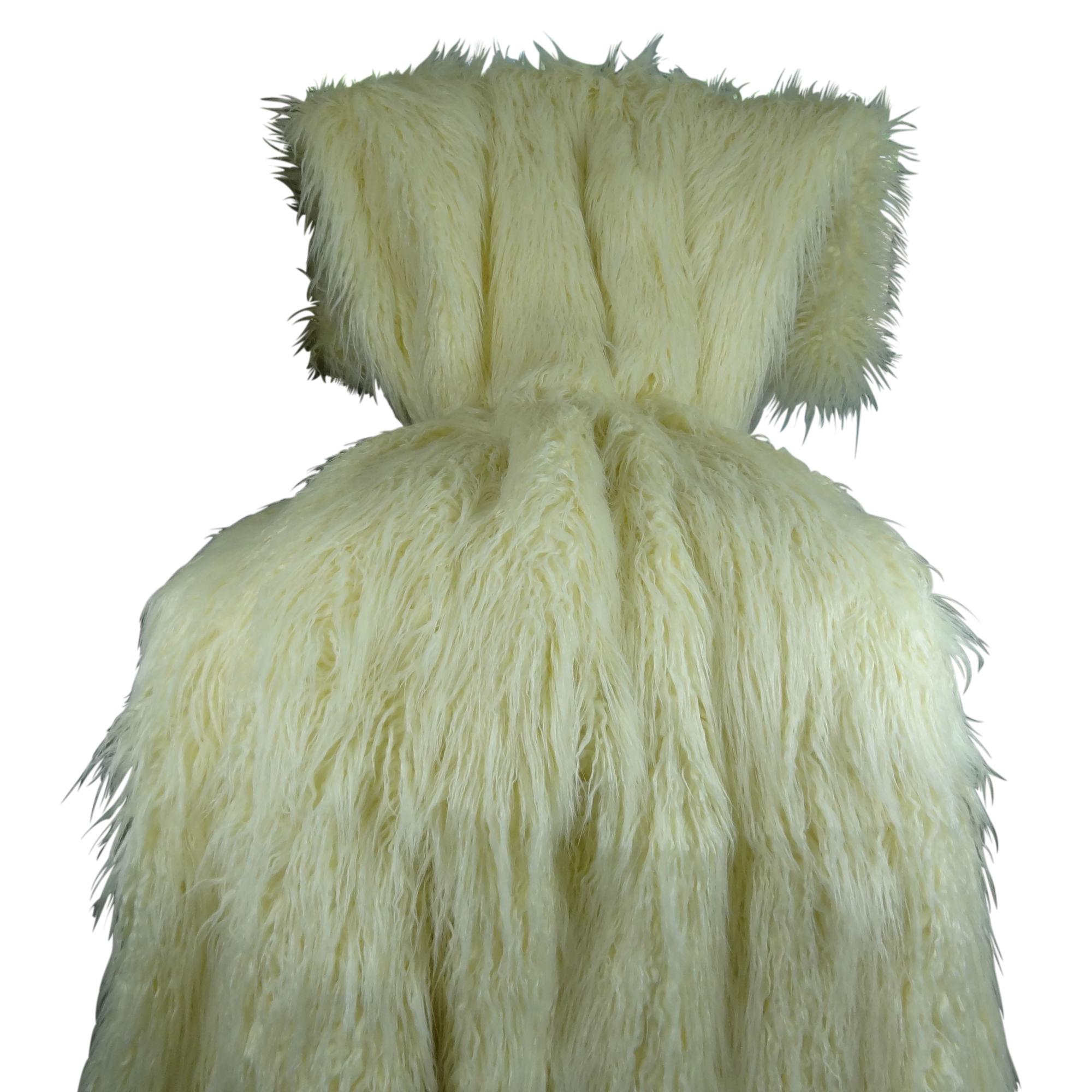 Plutus Mongolian Fur Handmade Throw / Blanket