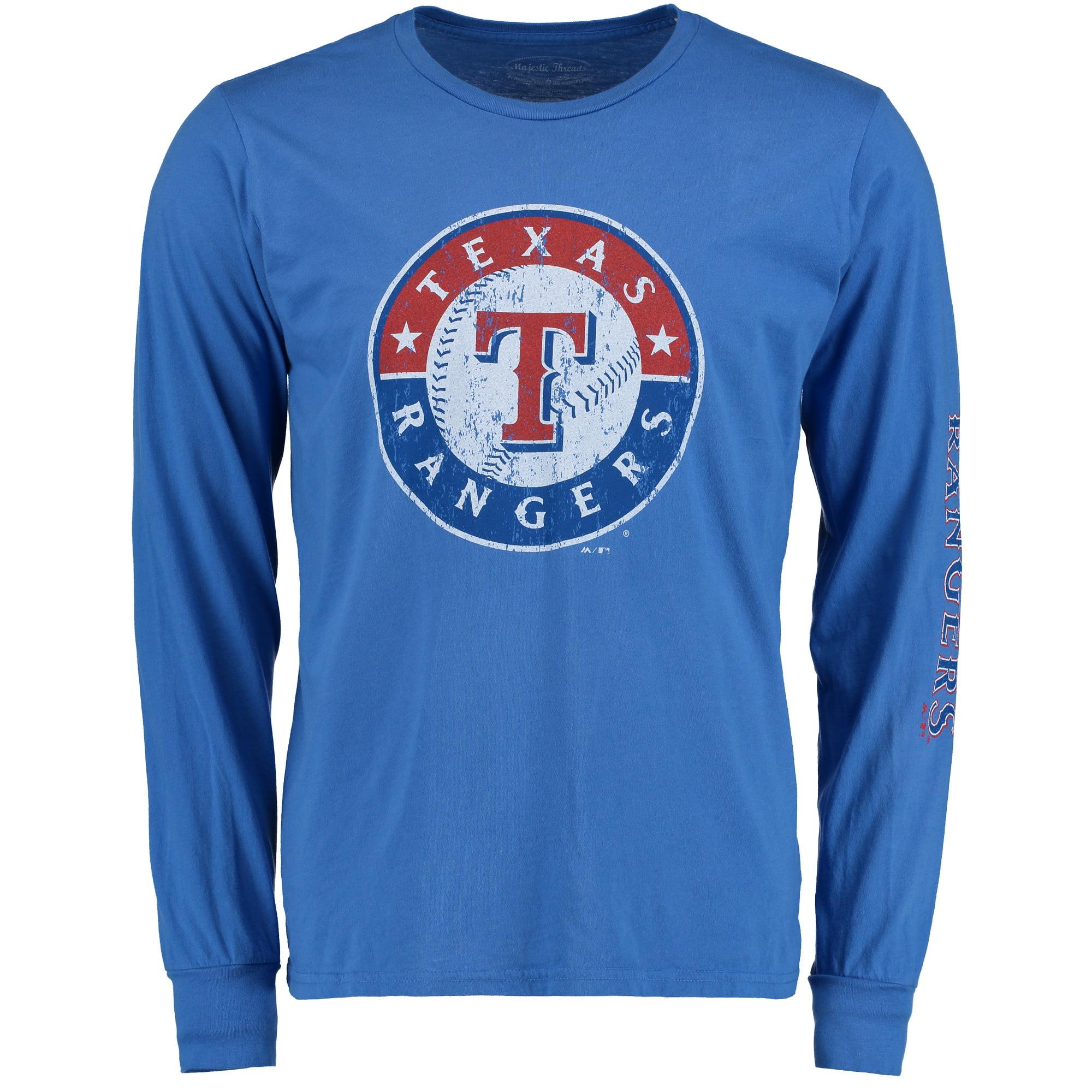 Texas Rangers Majestic Threads Ballpark Softhand Long Sleeve T-Shirt - Royal