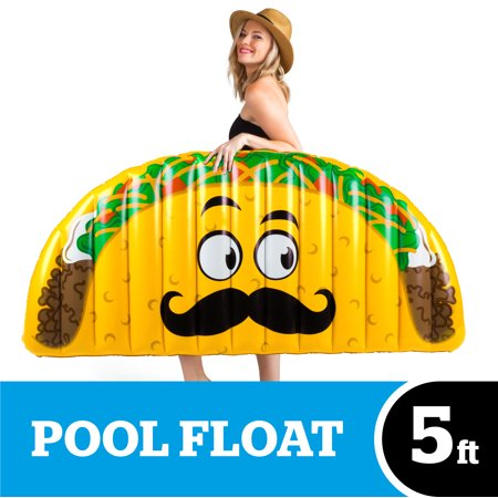 Giant Inflatable T Rex (BigMouth Inc. Giant Inflatable Taco Pool Float, Durable Plastic Pool Tube, Summer Pool Party)