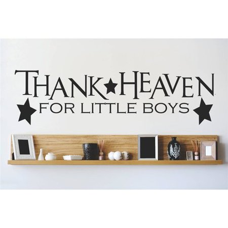 Design With Vinyl Thanks Heaven for Little Boys Wall Decal