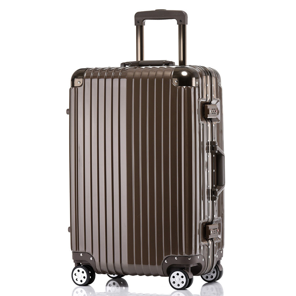 "Zimtown 20"" Hardcase Travel Luggage Suitcase Carry On Rolling Casters Wheel Coffee"