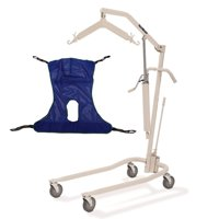 Invacare 9805P Hydraulic Patient Lift Kit with R115 Full Body Mesh Sling with Commode Opening