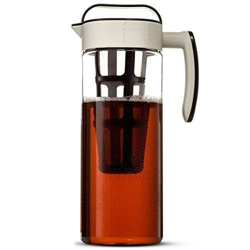 Komax Cold Brew Coffee Maker Large (2.liter 67oz.) Tritan Pitcher Bpa Free - Concentrated Hot or Iced Tea Beverages - Air Tight Seal, No Slip Silicone Grip, Fine Stainless Steel Mesh Infuser