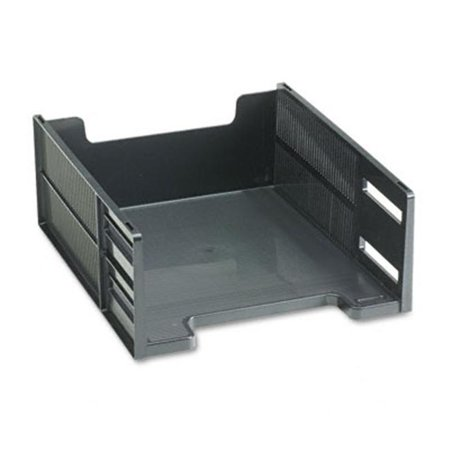 (Stackable High Capacity Front Load Letter Tray  Polystyrene  Ebony)