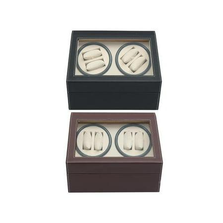 Automatic Watch Storage 10 Grid Luxury Watch Winder Rotator Storage Case Display Box Organizer With Framed Glass Lid