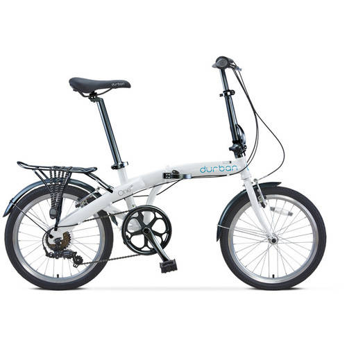 "20"" Durban One Up Folding Bike, White"