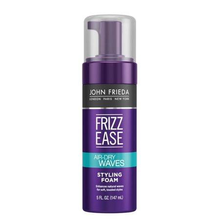 John Frieda Frizz Ease Dream Curls Air-Dry Waves Styling Foam 5 oz (John Frieda Collection Luxurious Volume Thickening Mousse 200ml)