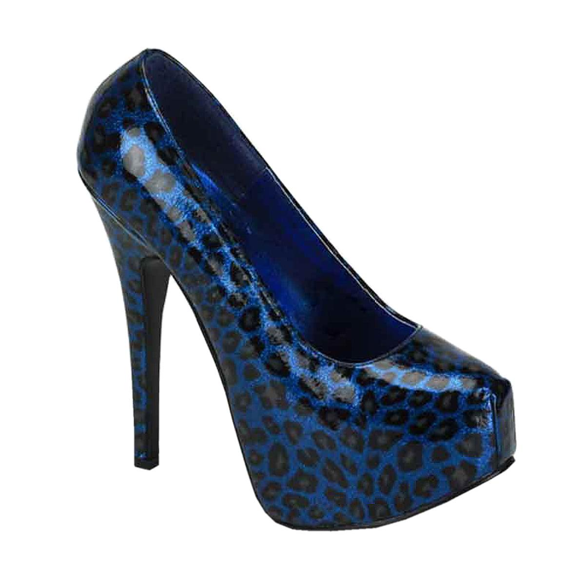 Womens 3/4 Animal Print Pumps 5 3/4 Womens Inch Heel Metallic Leopard Shoes Closed Toe 90559d